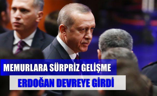 Memur Zammında Erdoğan Devrede