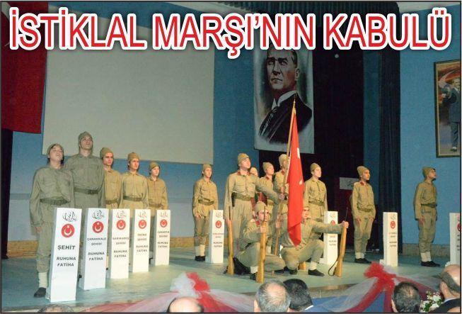 İSTİKLAL MARŞININ KABULÜ