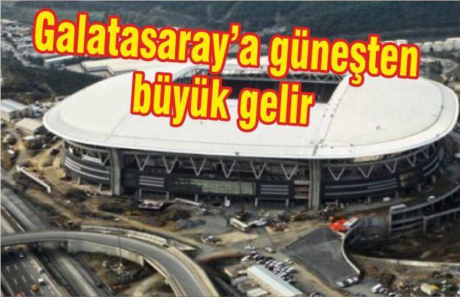 Galatasaray'a güneş enerjisinden büyük gelir