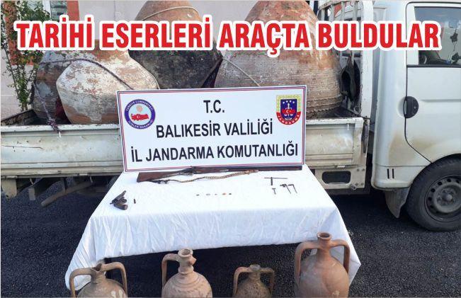 TARİH'İ ESERLERİ ARAÇTA BULDULAR