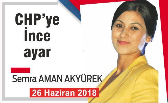 CHP'YE İNCE AYAR