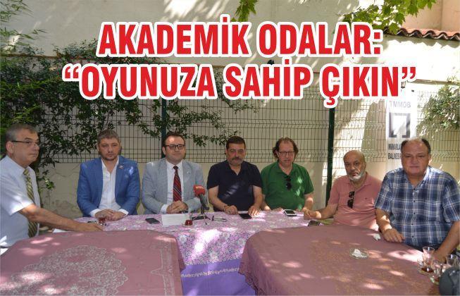 """AKADEMİK ODALAR """"OYUNUZA SAHİP ÇIKIN"""""""