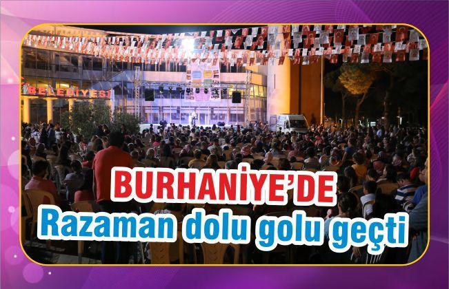 BURHANİYE'DE RAMAZAN DOLU DOLU GEÇTİ
