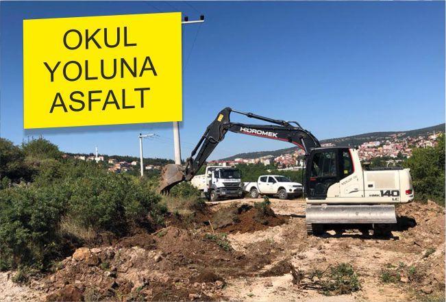 OKUL YOLUNA ASFALT
