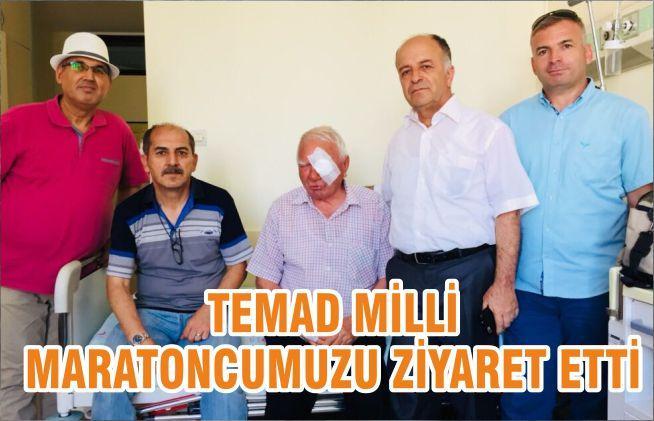 TEMAD MİLLİ MARATONCUMUZU ZİYARET ETTİ