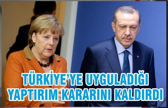 TÜRKİYE'YE UYGULADIĞI YAPTIRIM KARARINI KALDIRDI