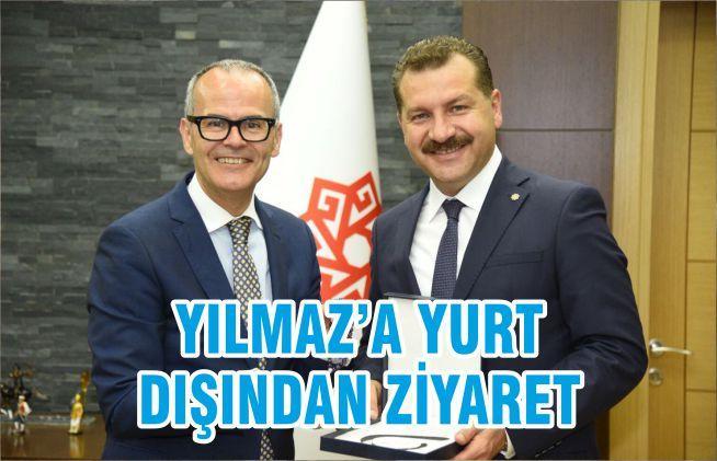 YILMAZ'A YURT DIŞINDAN ZİYARET