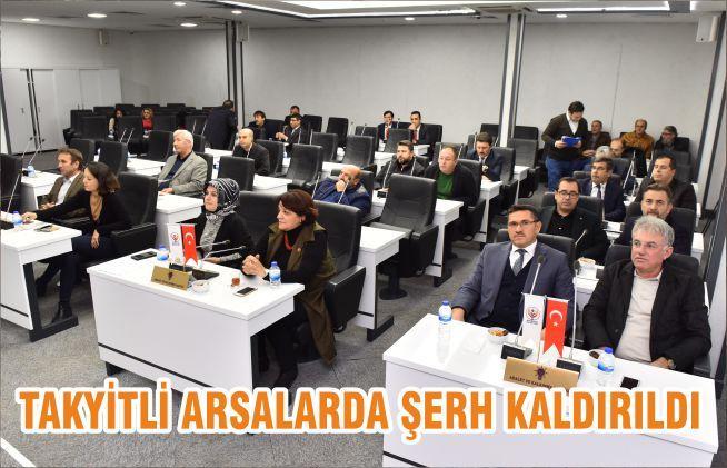 TAKYİTLİ ARSALARDA ŞERH KALDIRILDI