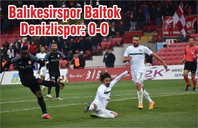 Balıkesirspor Baltok-Denizlispor: 0-0