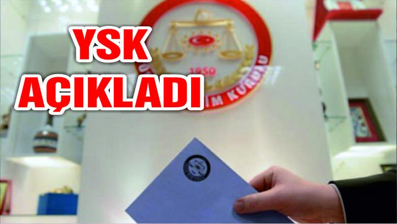 YSK'nın kararı yayınlandı! Artık eş zamanlı olacak