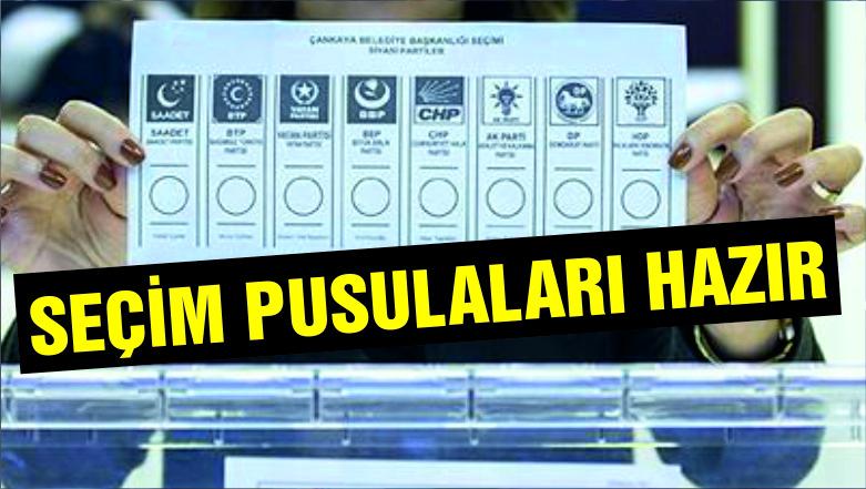 Yerel seçimin oy pusulaları hazır