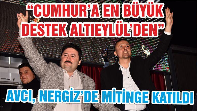 """""""CUMHUR'A EN BÜYÜK DESTEK ALTIEYLÜL'DEN"""""""