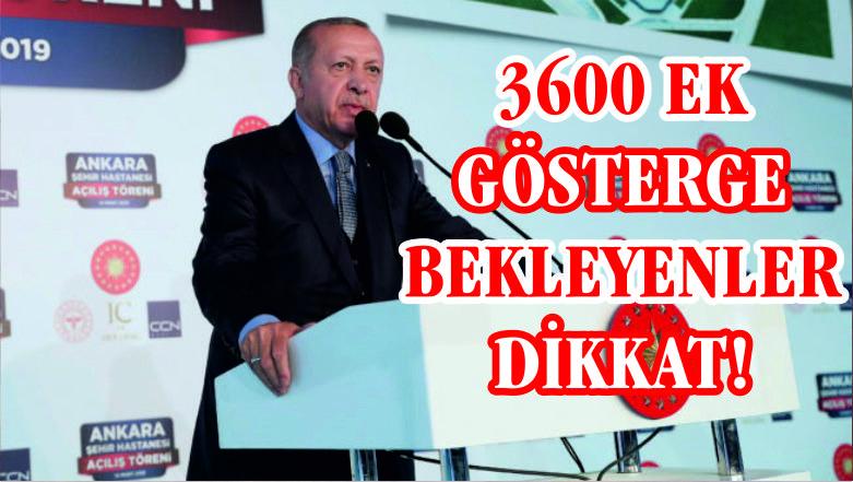 Erdoğan 3600 ek gösterge için konuştu