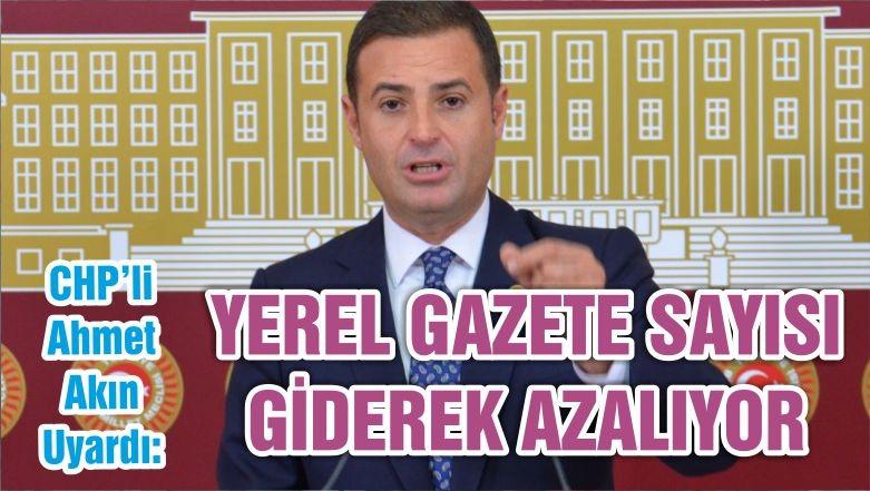 YEREL GAZETE SAYISI GİDEREK AZALIYOR