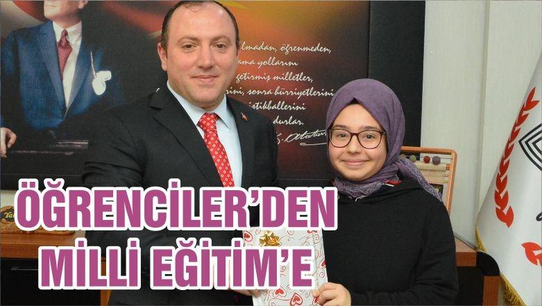 ÖĞRENCİLER'DEN MİLLİ EĞİTİM'E