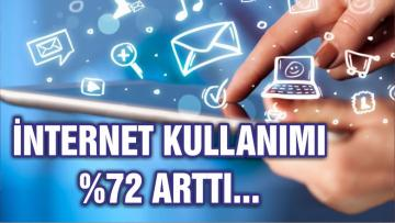 'Türkiye'de internet kullanımı yüzde 72'ye çıktı'