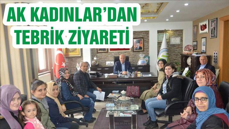 AK KADINLAR'DAN TEBRİK ZİYARETİ