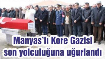 Manyas'lı Kore Gazisi son yolculuğuna uğurlandı