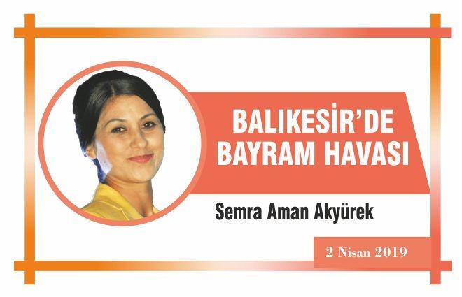 BALIKESİR'DE BAYRAM HAVASI