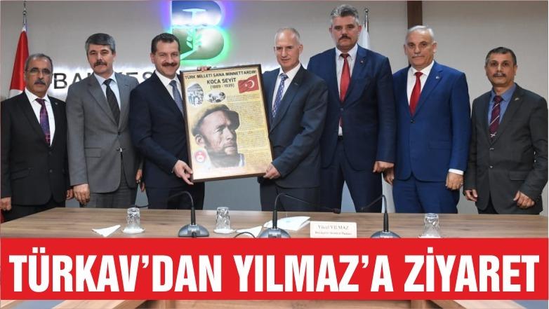 TÜRKAV'dan Başkan YILMAZ'a Ziyaret