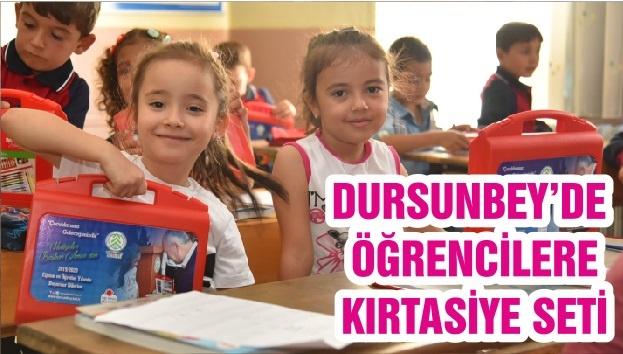 DURSUNBEY'DE ÖĞRENCİLERE KIRTASİYE SETİ