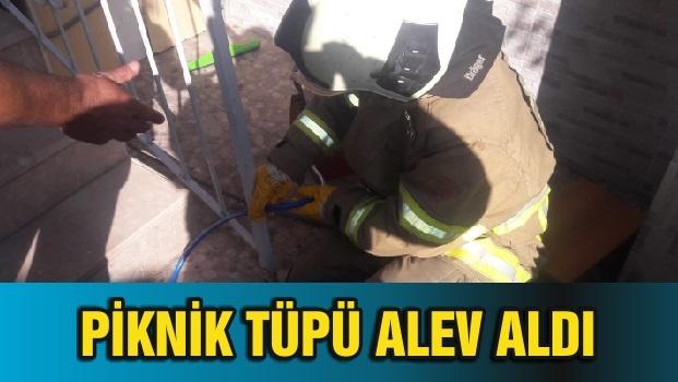 PİKNİK TÜPÜ ALEV ALDI