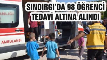SINDIRGI'DA 98 ÖĞRENCİ TEDAVİ ALTINA ALINDI