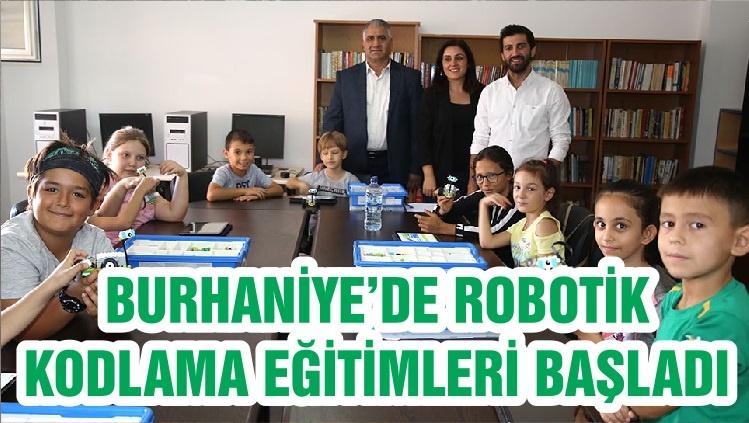 BURHANİYE'DE ROBOTİK KODLAMA EĞİTİMLERİ BAŞLADI