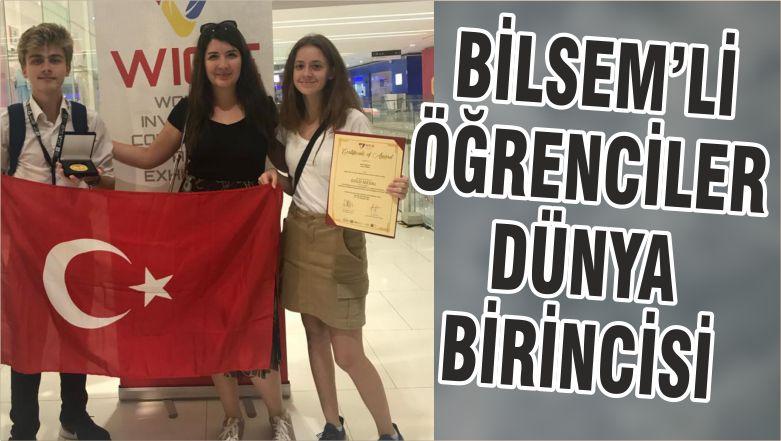BİLSEM'Lİ ÖĞRENCİLER DÜNYA BİRİNCİSİ
