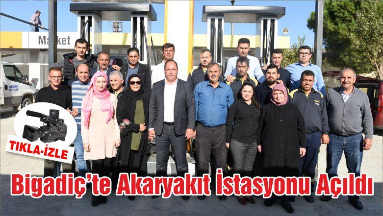 Bigadiç'te Akaryakıt İstasyonu Açıldı