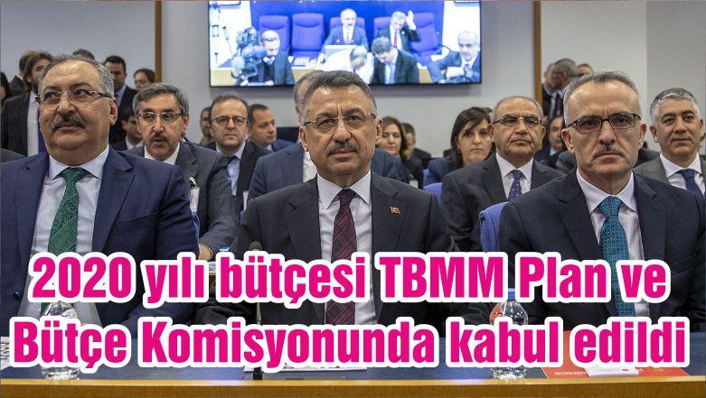 2020 yılı bütçesi TBMM Plan ve Bütçe Komisyonunda kabul edildi