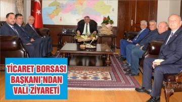 TİCARET BORSASI BAŞKANI'NDAN VALİ ZİYARETİ
