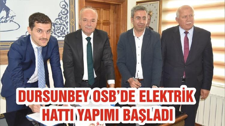 DURSUNBEY OSB'DE ELEKTRİK HATTI YAPIMI BAŞLADI