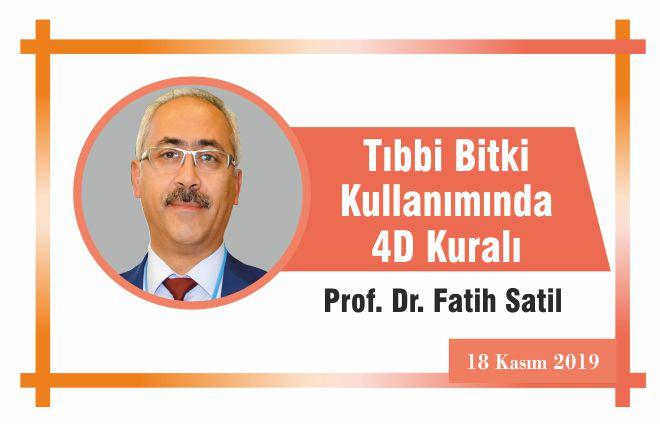 Tıbbi Bitki Kullanımında 4D Kuralı