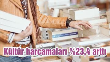 Kültür harcamaları %23,4 arttı