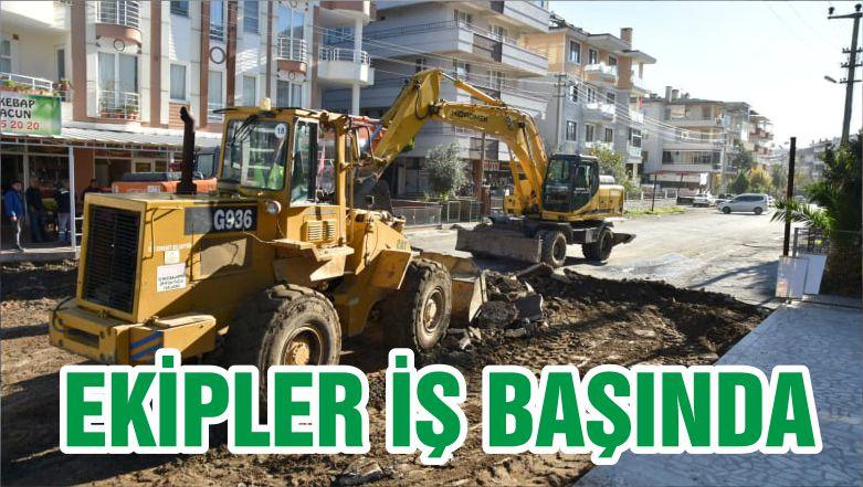 EKİPLER İŞ BAŞINDA