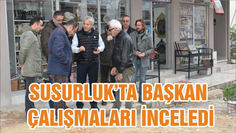 SUSURLUK'TA BAŞKAN ÇALIŞMALARI İNCELEDİ