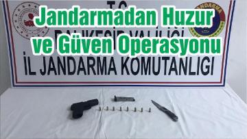 Jandarmadan Huzur ve Güven Operasyonu