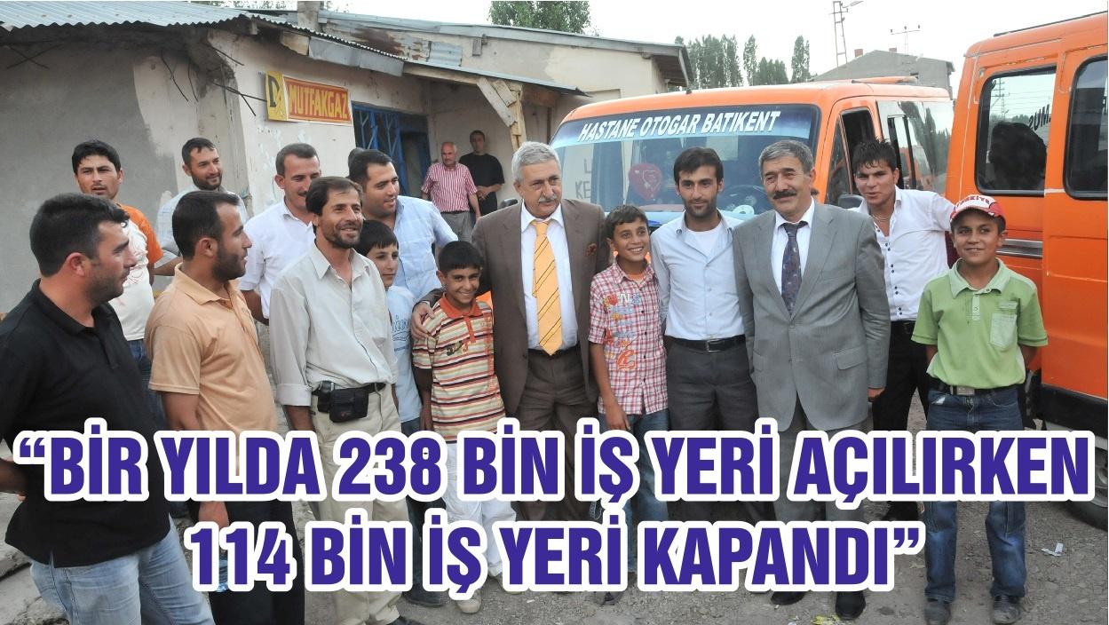 """""""BİR YILDA 238 BİN İŞ YERİ AÇILIRKEN 114 BİN İŞ YERİ KAPANDI"""""""
