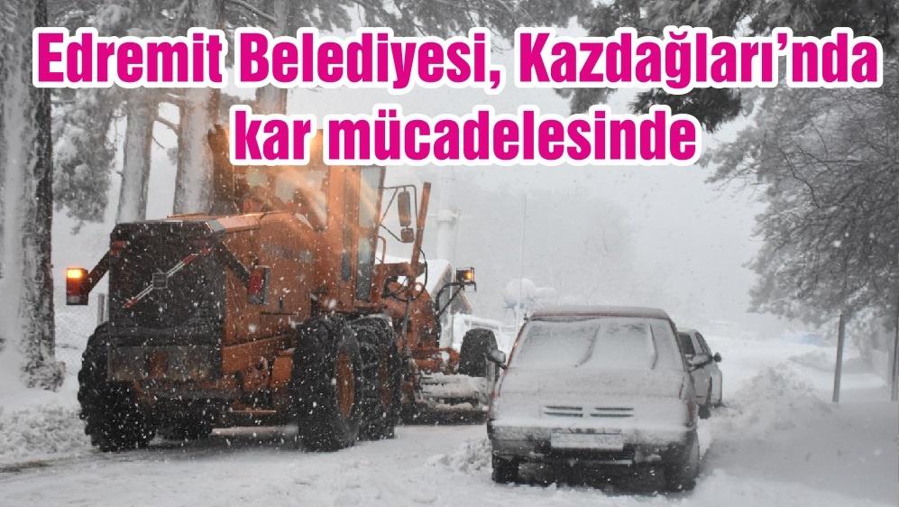Edremit Belediyesi, Kazdağları'nda kar mücadelesinde