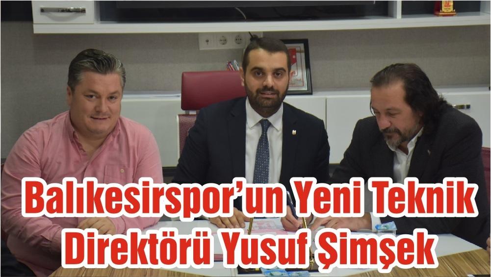 Balıkesirspor'un Yeni Teknik Direktörü Yusuf Şimşek