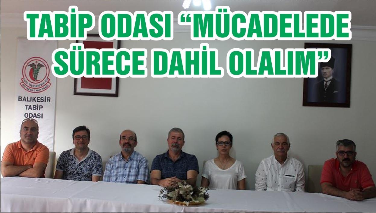 """TABİP ODASI """"MÜCADELEDE SÜRECE DAHİL OLALIM"""""""