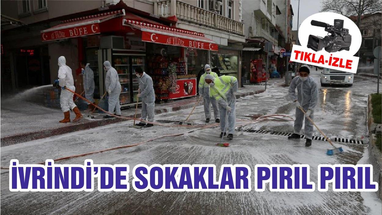 İVRİNDİ'DE SOKAKLAR PIRIL PIRIL