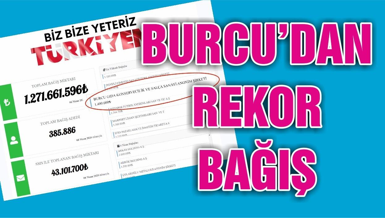 BURCU'DAN REKOR BAĞIŞ