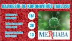 Balıkesir'de koronavirüsten 2 kişi daha hayatını kaybetti. Vaka sayısı ise 161'e yükseldi