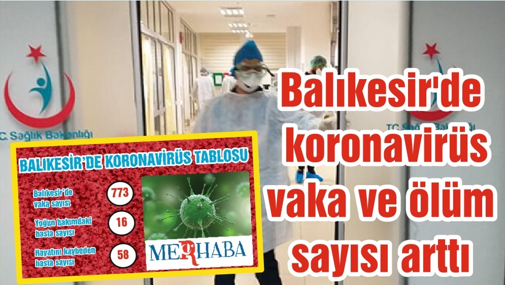 Balıkesir'de koronavirüs vaka ve ölüm sayısı arttı