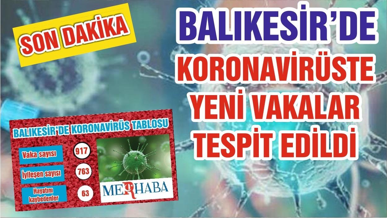 BALIKESİR'DE KORONAVİRÜS VAKALARINDA ARTIŞ