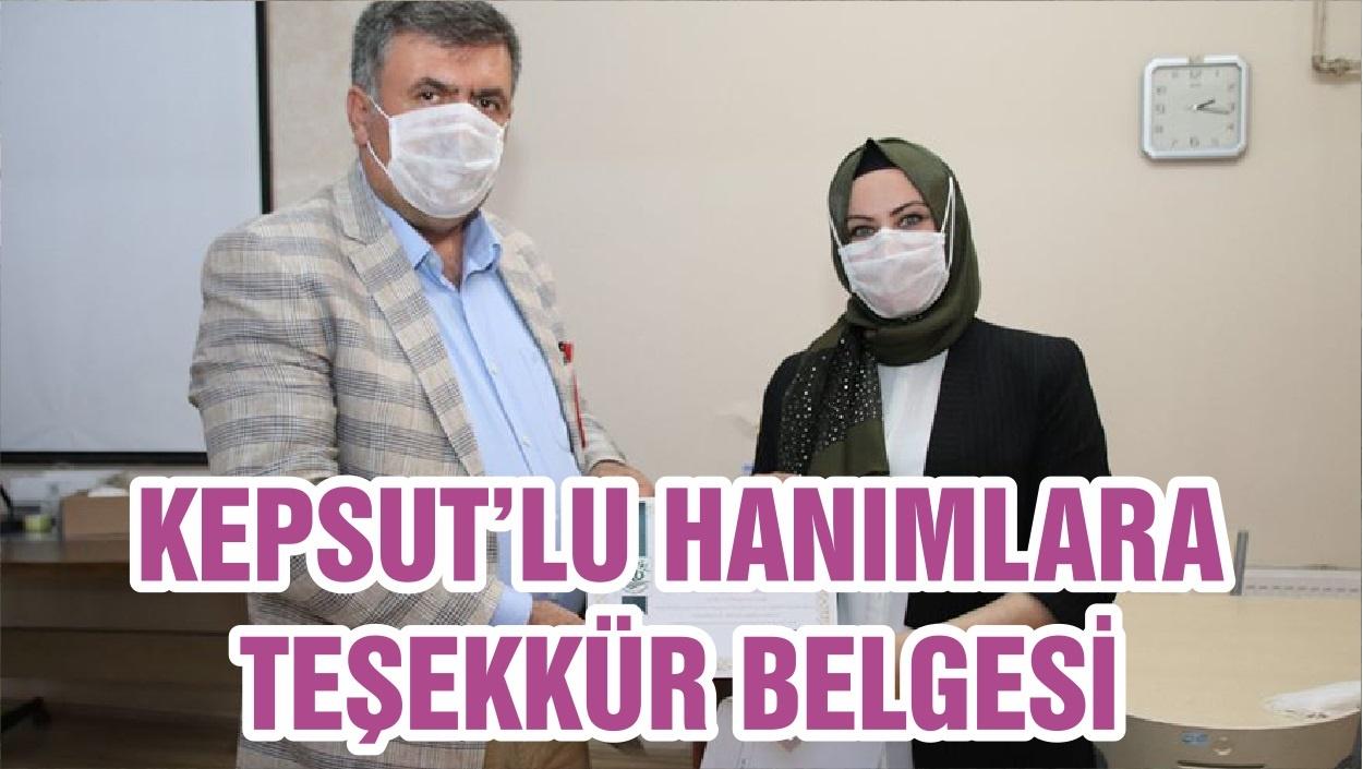 KEPSUT'LU HANIMLARA TEŞEKKÜR BELGESİ