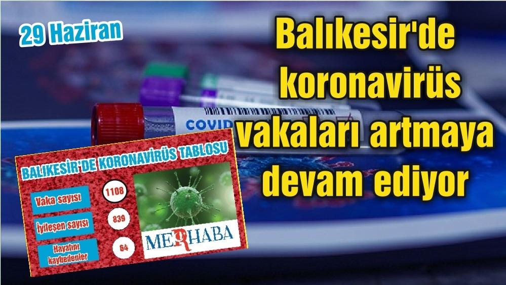 BALIKESİR'DE KORONAVİRÜSTE 29 HAZİRAN TABLOSU