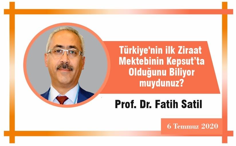 Türkiye'nin ilk Ziraat Mektebinin Kepsut'ta Olduğunu Biliyor muydunuz?